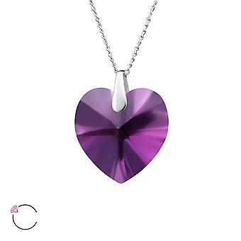 Heart crystal from Swarovski® - 925 Sterling Silver Necklaces - W27746X