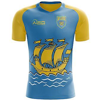 2020-2021 Saint Pierre and Miquelon Home Concept Football Shirt