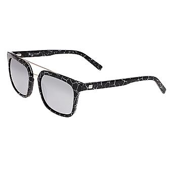 Sixty One Lindquist Polarized Sunglasses - Black Marble/Silver