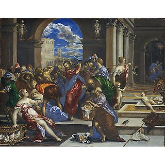 تنقية المعبد، إل غريكو، 50x40cm
