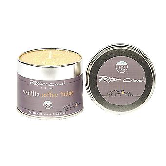 Potters Crouch Vanillia Toffee Fudge Scented Candle in Tin