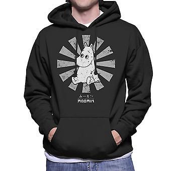 Moomin Retro japanische Herren Sweatshirt mit Kapuze