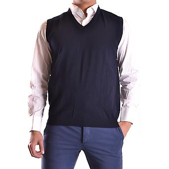 Daniele Alessandrini Ezbc107110 Men's Blue Cotton Vest