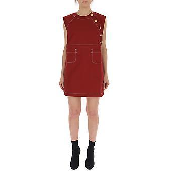 Maison Kitsuné Cw01604ww0001re Women's Red Cotton Dress