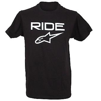 Alpinestars Mens T-Shirt ~ Ride 2.0 black/white