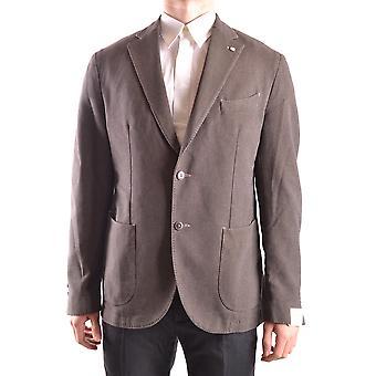 L.b.m. Ezbc215003 Men's Grey Cotton Blazer