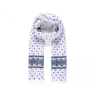 Intrigue Womens/Ladies Large Border Floral Print Scarf