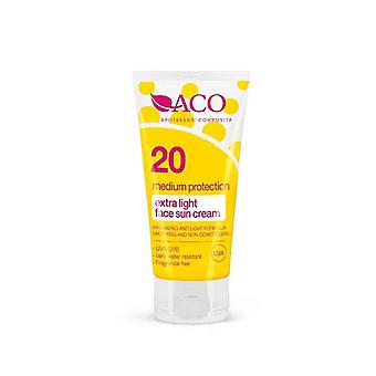 ACO Extra Light Face Sun Cream SPF 20 50ml ACO Extra Light Face Sun Cream SPF 20 50ml