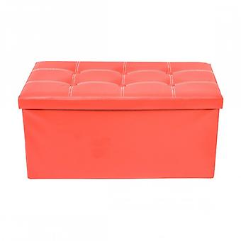 Meubles Rebecca Puff Stool Baule Red Design Modern Furniture 38x76x38