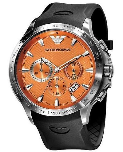 Emporio Armani Ar0652 - Mens Rubber Strap Chrono Designer Watch