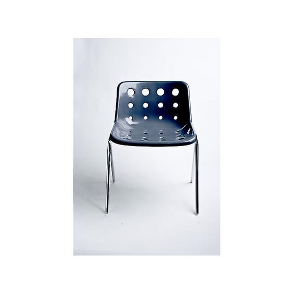 Loft Robin Day 4 Leg Charcoal Grey Plastic Polo Chair