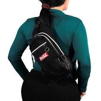 Coca-Cola Black Canvas Crossbody Sling Backpack