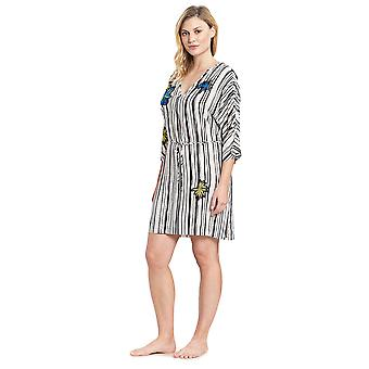 Féraud 3195317-16527 Frauen's Voyage Artstripe white Beach Dress Vertuschen Kaftan
