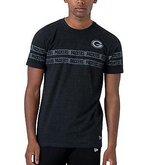 عصر جديد قميص مخطط -- غرين باي باكرز هيذر الأسود