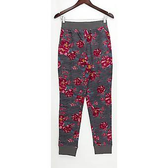 Denim & co. kvinner ' s bukser XXS aktiv trykt fransk Terry Gray A309341