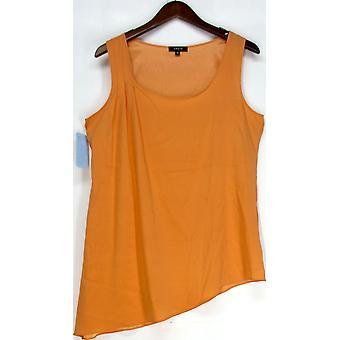 Drew Clothing Sleeveless Tunic Top Orange Solid Womens