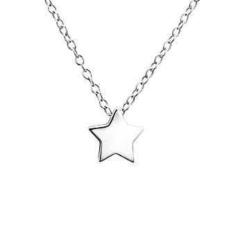 Star - 925 Sterling Silver Plain Necklaces - W24738x