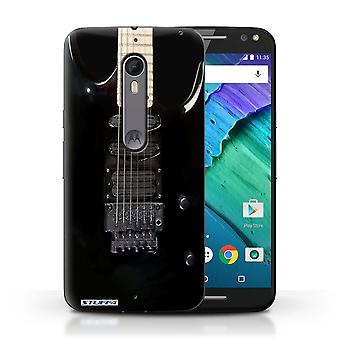 STUFF4 Case/Cover for Motorola Moto X Style/Black Electirc/Guitar