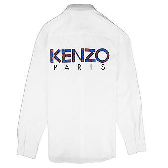 Kenzo Back Logo Long Sleeve Shirt White