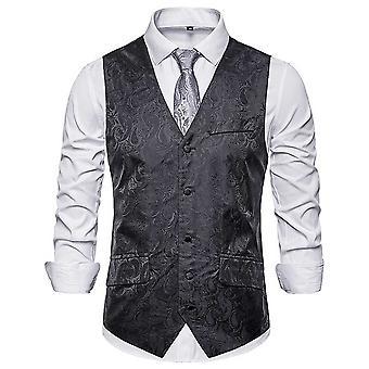 Allthemen miesten ' s painettu Banquet Party Business rento kaula puku liivi 4 väriä