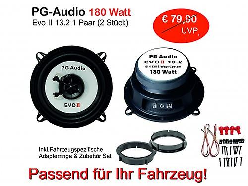 13cm coax, 2 way coax, Renault Megane 3,Lautsprecher door front incl. adapter rings