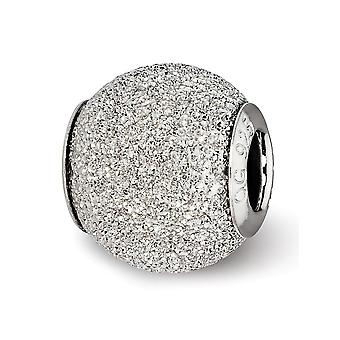 925 Sterling Silver Polished Hammered Laser cut Rhodium plated Antique finish Reflections Light Grey Laser Cut Bead Char