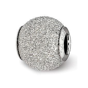 925 Sterling Sølv Polert Hamret Laser kuttet Refleksjoner Lys Grå Laser Cut Perle Sjarm Anheng Halskjede Smykker Gif
