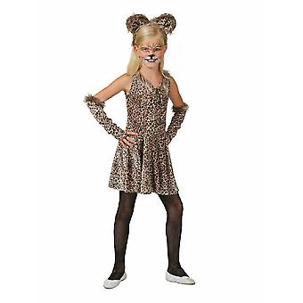 Leopard Girl Leopard Dress Costume Pour enfants Wildcat Leo Costume Kids