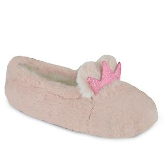 SlumberzzZ Filles Novelty Faux Fur Rabbit Ballet Slippers