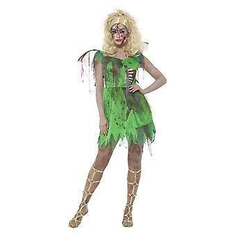 Womens Zombie Fairy fantasia traje vestido de Halloween