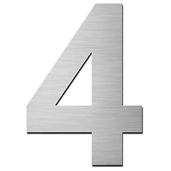 Serafini house number 4 stainless steel V4A self-adhesive height 15 cm