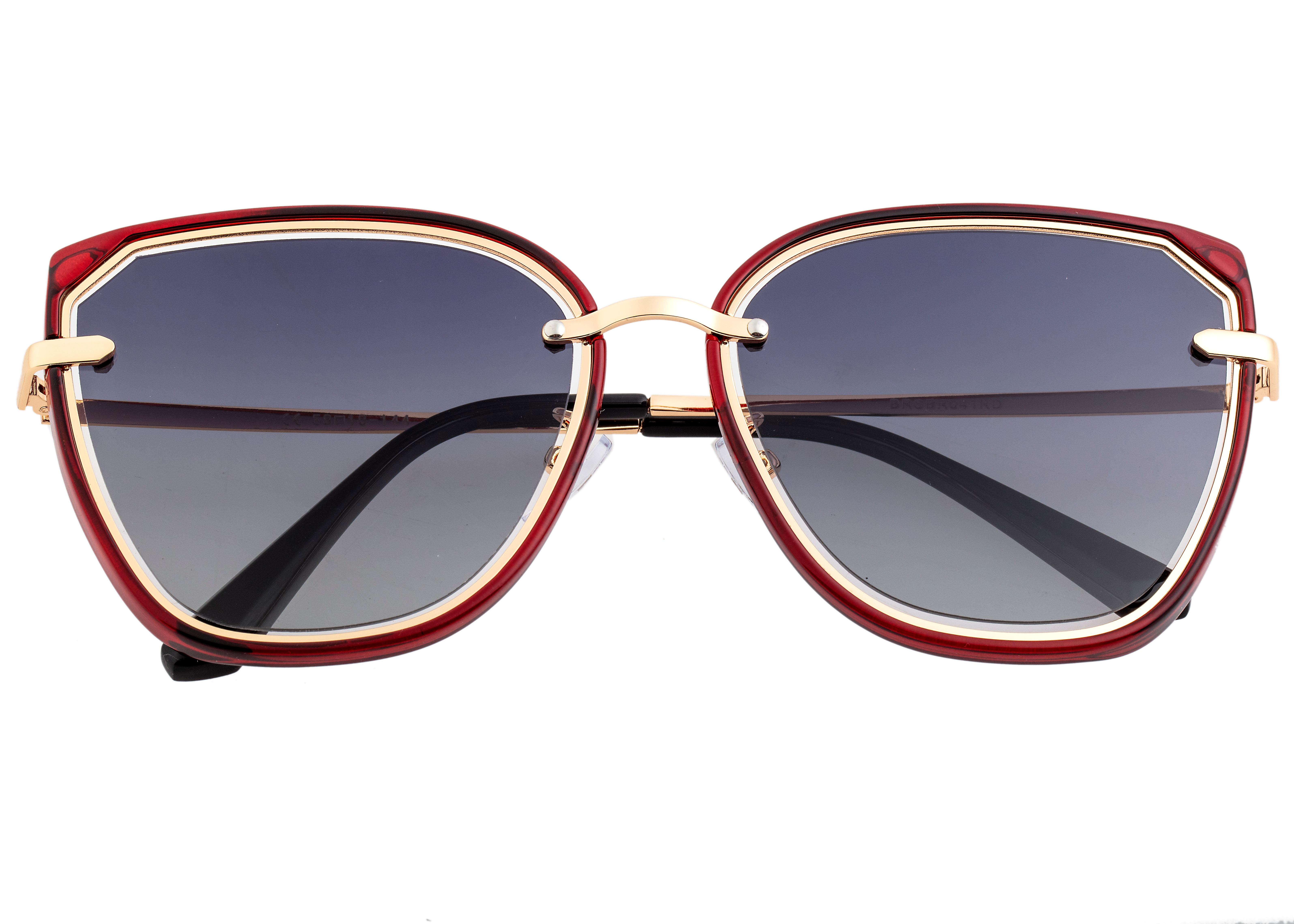 Bertha Rylee Polarized Sunglasses - Red/Black