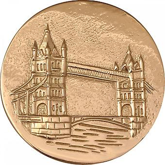 Nikki Lissoni London Tower Bridge Large Gold Plated Coin C1141GL