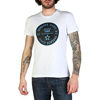Versace Jeans - Bekleidung - T-Shirts - B3GTB76J_36610_003 - Herren - white,black - XXL