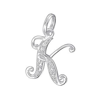 K - 925 Sterling Silver Charms With Split Ring - W17505x
