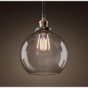 LaToya 1-lys klart glas 8-tommer Edison vedhæng med pære