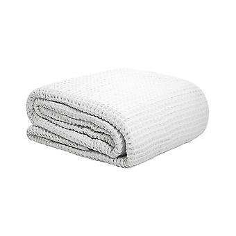 Bambury Waffle Weave Blanket White