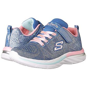 Kids Skechers Girls Quick Low Top Lace Up Walking Shoes