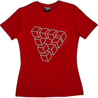 Penrose Triangle Red Women's T-Shirt