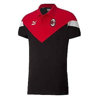 2019-2020 AC Milan Puma Iconic MCS Polo Shirt (Black)