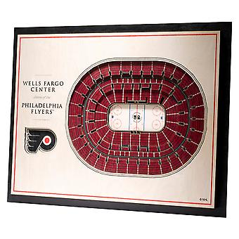 YouTheFan Wood Wall Decoration Stadium Philadelphia Flyers 43x33cm