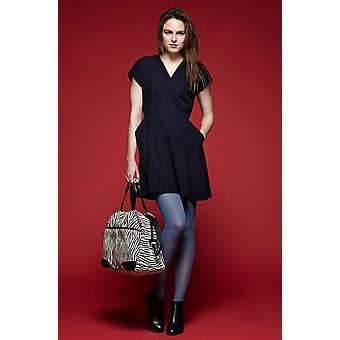 Louche Zola Wrap Front Dress Navy