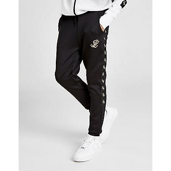 New ILLUSIVE LONDON Taped Athletic Poly Track Pants Junior Black
