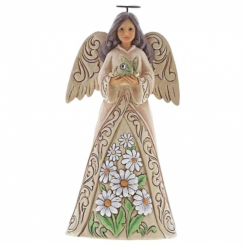 Jim Shore Heartwood Creek Birthstone Angel April