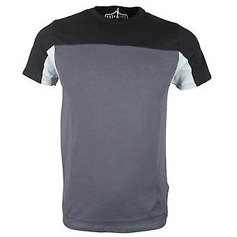 883 politie Malvan Slim Fit ronde grijs/zwart T-shirt