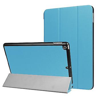Voor iPad 2018,2017 9.7in Case, Stijlvolle Karst Textured 3-voudig lederen cover, blauw