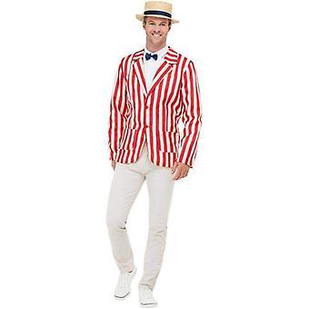 20er Jahre Barber Shop Kostüm Erwachsene rot / weiß