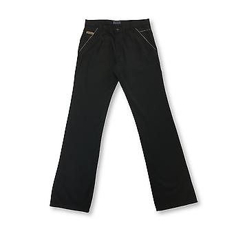 Messori viscose/cotton jeans in black with white details