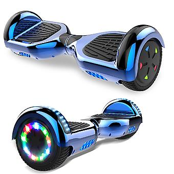 Right Choice Hoverboard Scooter eléctrico autoequilibrado - incorporado en los altavoces Bluetooth - LED rueda-cromo azul