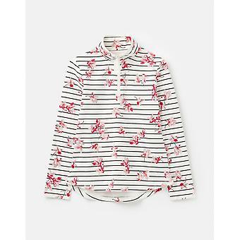 Joules Fairdale Print Womens Sweatshirt With Zip Neck - Grey Floral Stripe